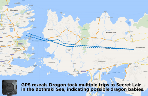 Where was Drogon? GPS Reveals Secret Dragon Babies.
