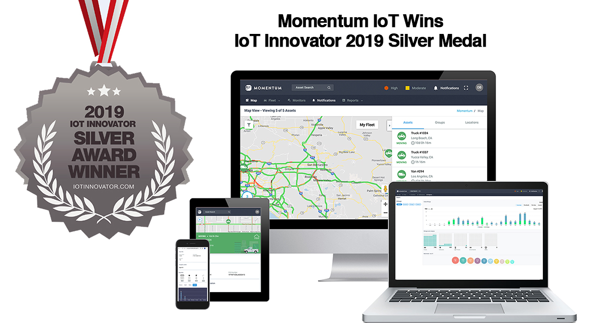 Momentum IoT Wins 2019 Silver Medal from IoT Innovator
